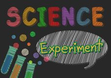 Science Experiment Art Background stock illustration