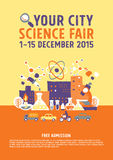 Science Fair poster concept Royalty Free Stock Photography