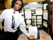 Science Fair Poster and Student royalty free stock image