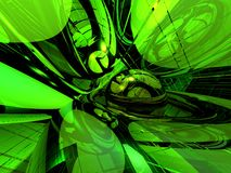 Science-fiction. Abstract futuristic neon light background - 3d illustration Stock Photography