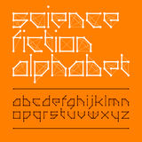 Science fiction alphabet. Science fiction font style illustration Stock Image