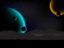 Science fiction background Stock Image