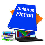 Science Fiction Book Stack Online Shows SciFi Books. Science Fiction Book Stack Online Showing SciFi Books Royalty Free Stock Photos