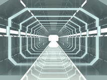 Science Fiction Corridor. Hi tec corridor through a futuristic laboratory Royalty Free Stock Images