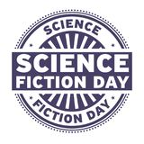 Science Fiction Day rubber stamp. Vector Illustration Stock Photos
