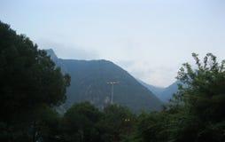Science fiction in de Alpen stock foto