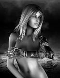 Science Fiction Fantasy Nude Woman Stock Photos