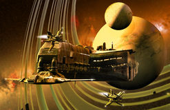 Science fiction frame Royalty Free Stock Image