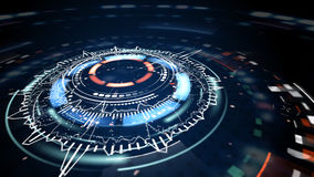 Science fiction futuristische cirkelelementen Stock Afbeelding