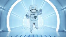 Science fiction interior royalty free illustration