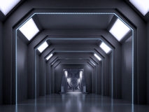 Science fiction interior scene Stock Image
