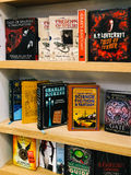 Science Fiction Literature Books For Sale In Bookstore Shelves. BUCHAREST, ROMANIA - JANUARY 24, 2017: Science Fiction Literature Books For Sale In Bookstore Royalty Free Stock Photos