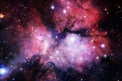 Science fiction ruimtebehang, melkwegen en nebulas in ontzagwekkend kosmisch beeld vector illustratie