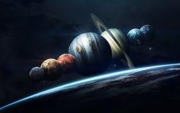 Science fiction ruimtebehang, ongelooflijk mooie planeten, melkwegen Elementen van dit die beeld door NASA wordt geleverd royalty-vrije stock fotografie
