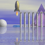 Science Fiction Scene Stock Image
