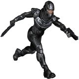 Science Fiction Soldier - Running. Futuristic science fiction soldier in protective armoured space suit, running holding pistols, 3d digitally rendered Stock Photography
