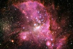 Science fiction space wallpaper, galaxies and nebulas in awesome cosmic image. Elements of this image furnished by NASA stock image
