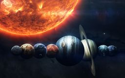 Science fiction space wallpaper, incredibly beautiful planets, galaxies. Elements of this image furnished by NASA royalty free stock photo