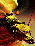 Science fiction spaceship Stock Images
