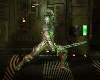 Science Fiction Warrior Knight royalty free illustration