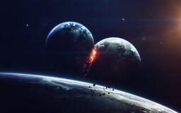 Science fictionart. Schoonheid van diepe ruimte Elementen van dit die beeld door NASA wordt geleverd stock afbeeldingen