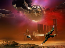 Science fictionscène stock illustratie