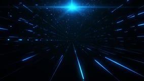 science fictiontorn för blått 3D av Babel Tunnel VJ öglasbakgrund lager videofilmer