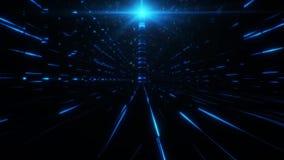 science fictiontorn för blått 3D av Babel Tunnel VJ öglasbakgrund stock video