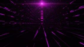 science fictiontorn för fuchsia 3D av Babel Tunnel VJ öglasbakgrund lager videofilmer