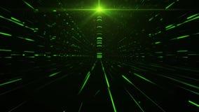science fictiontorn för gräsplan 3D av Babel Tunnel VJ öglasbakgrund arkivfilmer