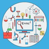 Science flat vector icons Stock Photo