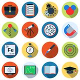 Science flat vector icons Royalty Free Stock Photos