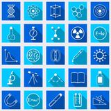 Science flat vector icons Stock Image