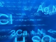Science formulas Stock Photography