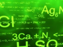 Science formulas Royalty Free Stock Photo