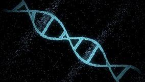 Virtual dna molecule over black background