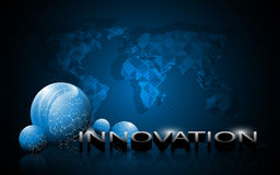 Science globe and innovation 3d text background Royalty Free Stock Photography