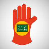 science glove and laboratory board icon Royalty Free Stock Photo