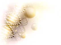 Science golden background. With abstract DNA theme and copyspace for your text Stock Image