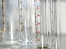 Science graduated cylinder Stock Image