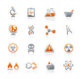 Science // Graphite Icons Series Stock Photos