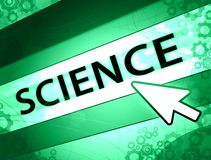 Science green concept. Green science background concept with gears arrow and lines Stock Photo