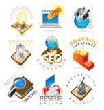 Science headers Royalty Free Stock Photography