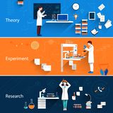 Science Horizontal Banners Stock Photography