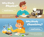 Science Horizontal Banners Stock Image