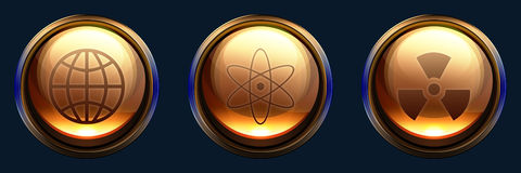 Science icon pack Stock Images