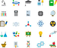 Science icon set royalty free illustration
