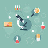 Science Icon Set Stock Photography