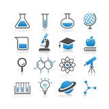 Science icon set Royalty Free Stock Image