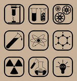 Science icon set Stock Photo